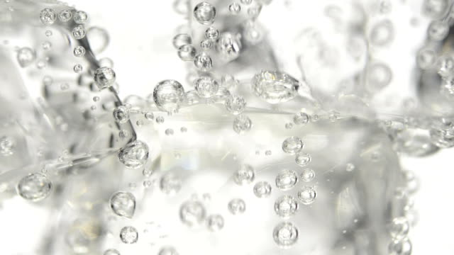 Mineral water with ice cubes HD Real Time
