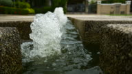 mini fountain , water with oxygen in the fish pond