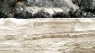 Mini sand cliff slider shot.