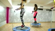 Mini trampoline girls