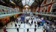 Miniature London -  Liverpool Street Station inside during a busy work day in the City of London