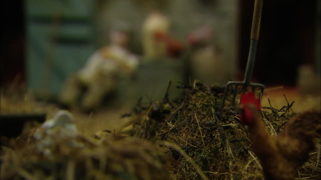 Miniaturised late Victorian scene, farm, Dolls house, Leonardslee Gardens, West Sussex, UK
