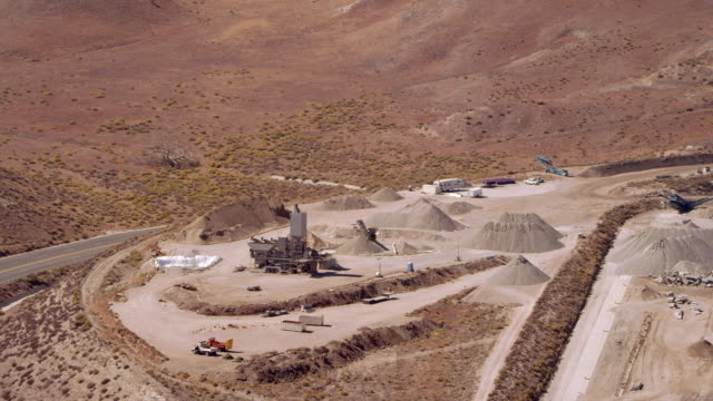 Mining operation in mountains