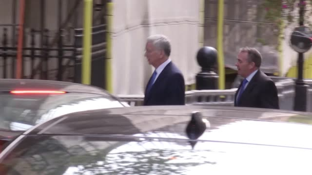 Ministers arrive for a Cabinet meeting at 10 Downing Street Including shots of Boris Johnson Michael Fallon Michael Gove Amber Rudd Sajid Javid and...