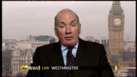 Ministry of Defence announces job losses ENGLAND London GIR EXT Lord Dannatt LIVE 2WAY interview ex Westminster SOT