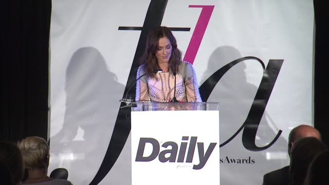 SPEECH Minka Kelly at The Daily Front Row Presents First Annual Fashion Los Angeles Awards in Los Angeles CA