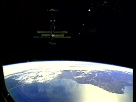 WA Mir space station orbiting earth, NASA