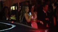 Miranda Kerr departs the 2015 Vanity Fair Oscar Party in Los Angeles in Celebrity Sightings in Los Angeles