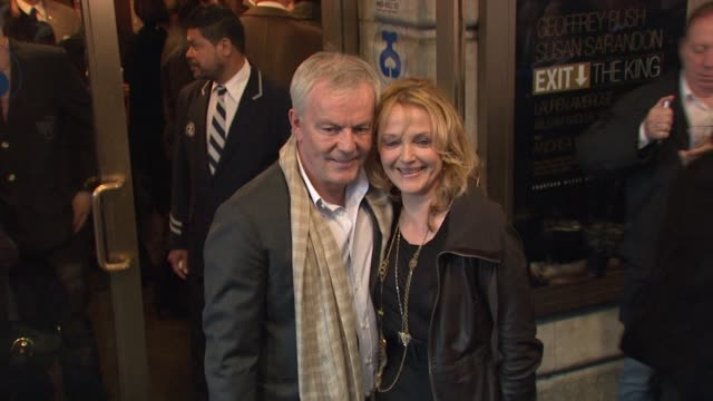 Miranda Richardson and guest at the Exit The King Broadway Opening Night Arrivals at New York NY