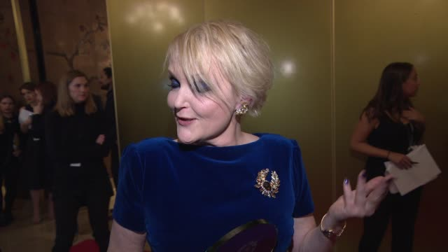 INTERVIEW Miranda Richardson on winning an award Stanley Tucci and her admiration for filmakers at London Critics Circle Awards