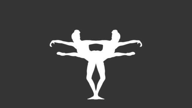 Mirror image of ballerina dancing