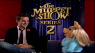 INT Miss Piggy interview continued SOT saying she is not available she is in committed relationship with 'the frog'