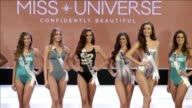 Miss Universe contestants participate in a swimsuit fashion show in Cebu central Philippines ahead of the annual beauty pageant on 30 January 2017
