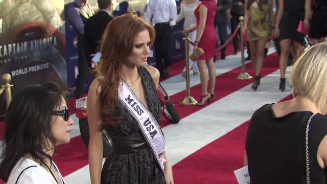 Miss USA 2011 Alyssa Campanella at the 'Captain America The First Avenger' Los Angeles Premiere at Hollywood CA