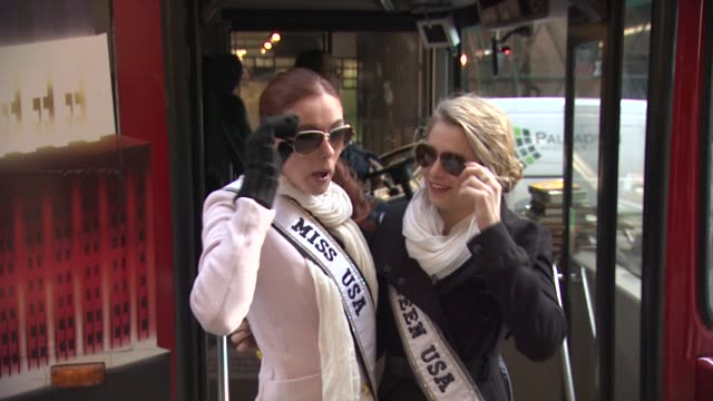 Miss USA Alyssa Campanella and Miss Teen USA Danielle Doty at 2012 World Read Aloud Day Celebration on 3/7/2012 in New York NY United States
