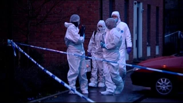 body found Edinburgh house activity SCOTLAND Edinburgh PHOTOGRAPHY*** Forensic officers leaving Kular house / forensic officers by van