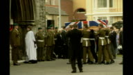 Mission's End unanswered questions for mother of soldier killed in 2003 April 2003 Conwy Llandudno Coffin carried by soldiers to church for funeral