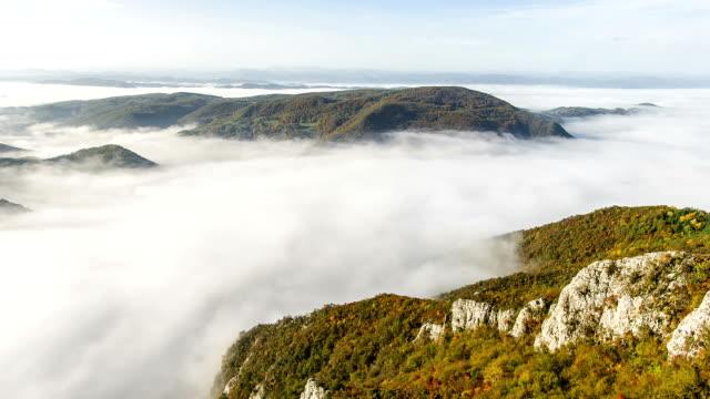Nebel und Wolken im gulch