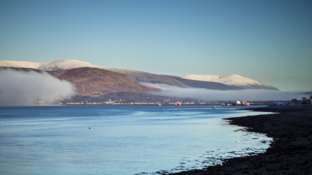 Misty Day in Fort William, Scotland - Time Lapse