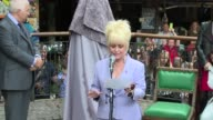 Mitch Winehouse Barbara Windsor at Amy Winehouse statue unveiling on 14th September 2014 in London England