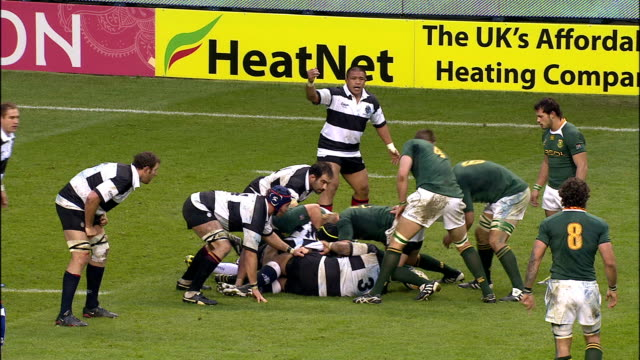 Mitchell kicks long and Patrick Lambie carries it in after a steal Barbarians v Springboks 4th December 2010 Available in HD