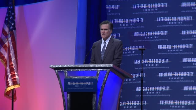 Mitt Romney addresses Americans for Prosperity on his economic programs and some cut shots Americans for Prosperity Defending the American Dream...