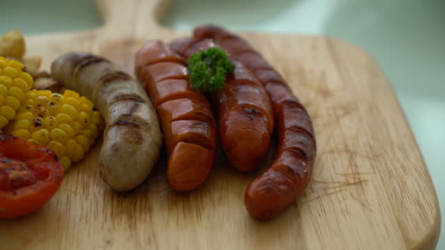 mix grilled sausage