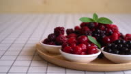 mixed berries on the table