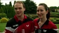 mixed doubles married couple interview Paul joined by wife Joanna Drinkhall / Joanna Paul interview SOT