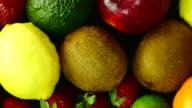 Mixed Fruits. Close up. Top view.