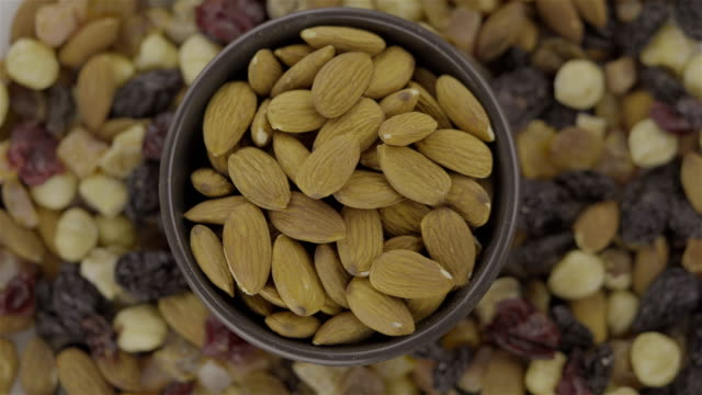 Mixed Nuts and Dried Almond - Loopable 4K video
