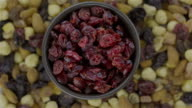 Mixed Nuts and Dried Blueberries - Loopable 4K video