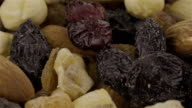 Mixed Nuts and Dried Fruits - 4K video