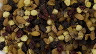 Mixed Nuts and Dried Fruits - Loopable 4K video