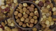 Mixed Nuts and Peeled Hazelnut - Loopable 4K video