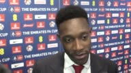 Mixed zone interview with Arsenal Forward Danny Welbeck after their FA Cup final win at Wembley against Chelsea