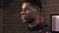 Mixed zone interview with Manchester United forward Marcus Rashford who scored the third goal in a 30 Champions League win over FC Basel He talks...