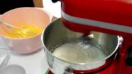 Mixing cream in mixing machine