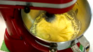 Mixing cream in mixing machine