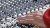 DJ mixing desk for