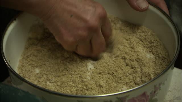 Mixing Salt With Rice Bran, Fukuoka, Japan