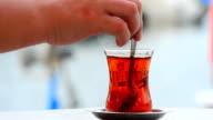 Mixing Turkish tea