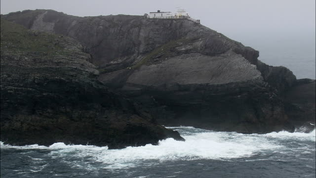 Mizen Head  - Aerial View - Munster,  Cork,  helicopter filming,  aerial video,  cineflex,  establishing shot,  Ireland