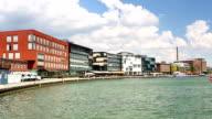 Muenster harbor in Nordrhein Westfalen