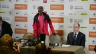 Mo Farah withdraws from Diamond League event in Birmingham ENGLAND West Midlands Birmingham INT Mo Farah taking seat at press conference