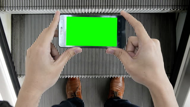 Mobile device green screen to show your idea