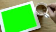 Mobile device green screen (HD)