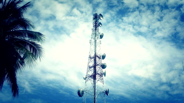 Mobile phone cell tower time lapse