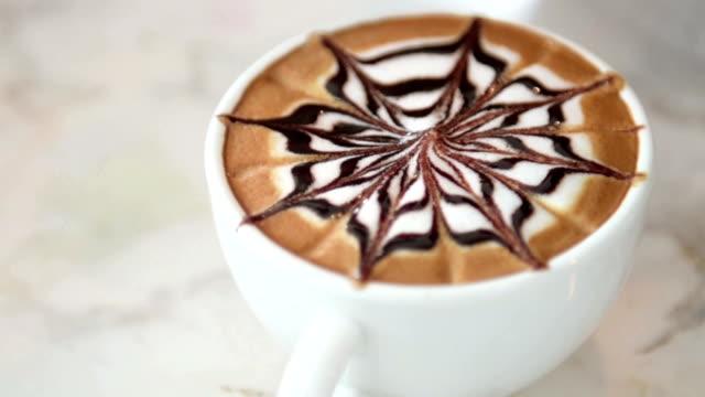 Mokka Kaffee mit Schokolade Aromen, Kaffee mit Schokolade.