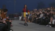 Model Joan Smalls at TommyLand Tommy Hilfiger Spring 2017 Fashion Show at Venice Beach on February 08 2017 in Venice California